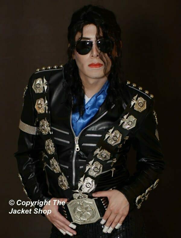 BAD Jacket Michael Jackson - Metal Police Badges