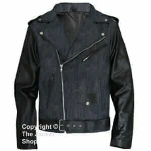 Stylish-Mens-Denim-and-Leather-MJ-Pepsi-Max-Style-Jacket