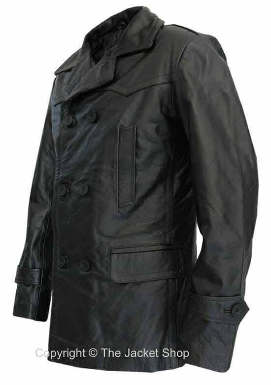 KRIEGSMARINE WW2 German Jacket - U-Boat Captain Leather Pea Coat