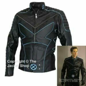 X-MEN 3 ICEMAN Leather Biker Jacket