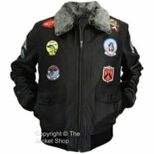 G-1-Top-Gun-Military-Flight-Aviator-Leather-Jacket-With-Badges