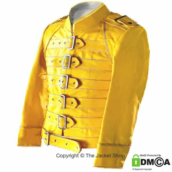 Buy Freddie Mercury Yellow Leather Jacket
