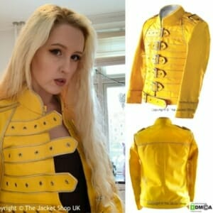 Freddie Mercury Yellow Leather Jacket.