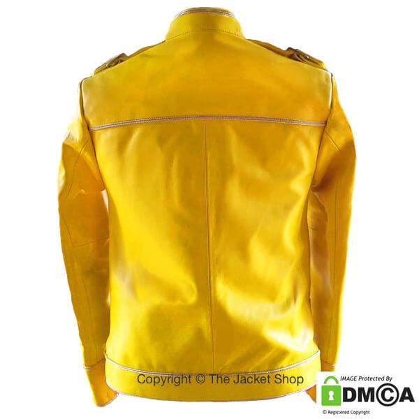Freddie Mercury Yellow Leather Jacket Rear View