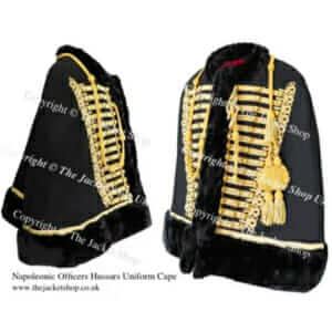 Officers Napoleonic Hussars Military Cape