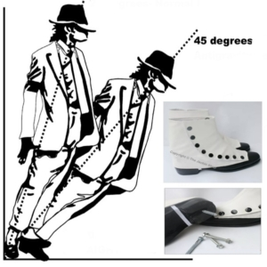Michael Jackson Leaning Shoes – 45 Degrees Anti Gravity Defying Lean