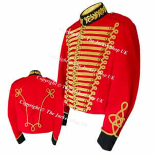 Red Military Cavalry Tunic - Jacket - SALE Item! (M/ L)