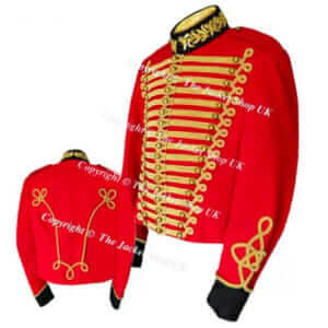 Red Military Cavalry Tunic