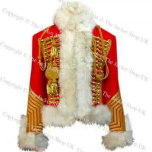 Imperial Guard Chasseur a cheval Pelisse, White Fur