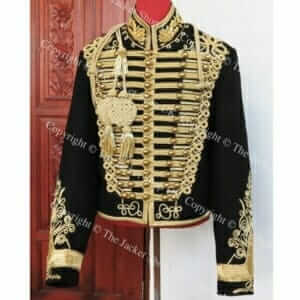 Hussars Dolman with Bullion Collar – Gilt Braiding and Aiguillette