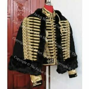 Napoleonic Hussars Military Dolman and Pelisse Gilt Braid Collar Set