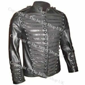 Jermaine-Jackson-Zara-Military-Leather-jacket