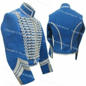 Blue Hussars Military Band Jacket