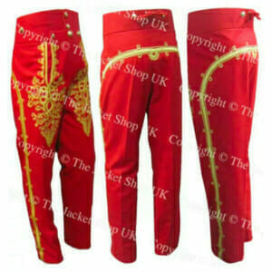 Embroidered Hussars Fall Front Military Gala Trousers Breeches