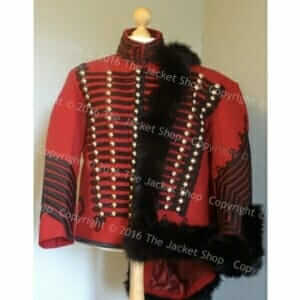 Hussars Tunic and Pelisse in Blood Red