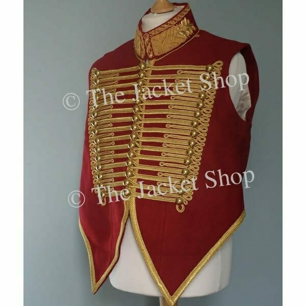 Military Waistcoat Gold Bullion Collar