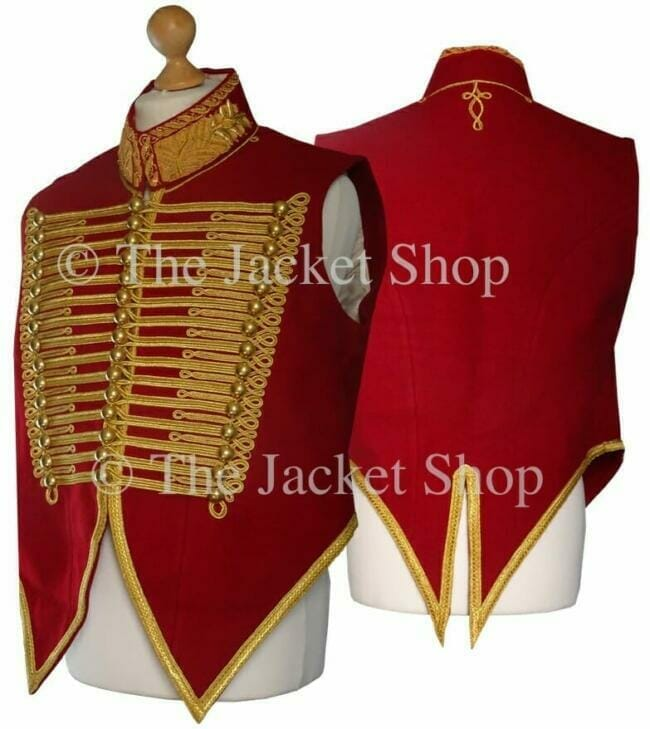 Military Waistcoat - With Gold Bullion Embroidered Collar