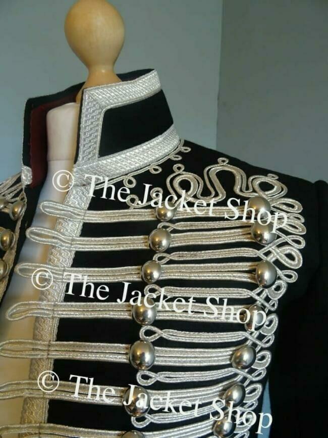 military clothing silver braid