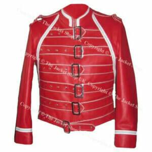 SALE Item! Freddie Mercury Queen Concert Red Leather Jacket (S)