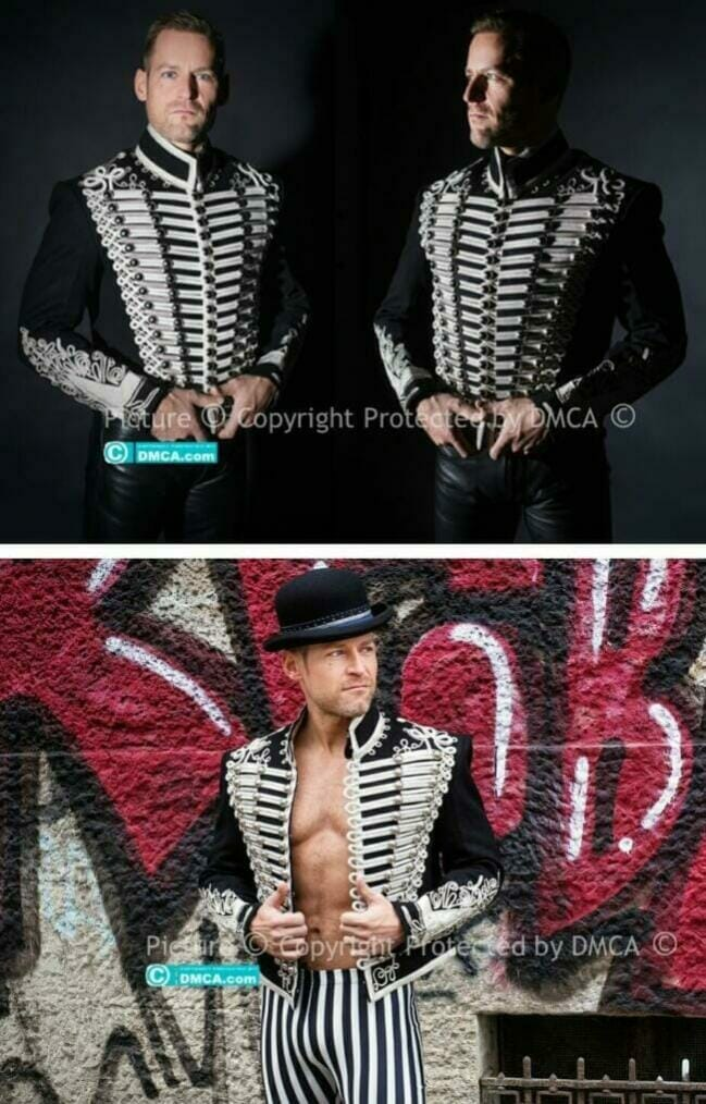 A big thank you to Philipp for sending these superb photos wearing our Hussars Dolman in Silver Braid
