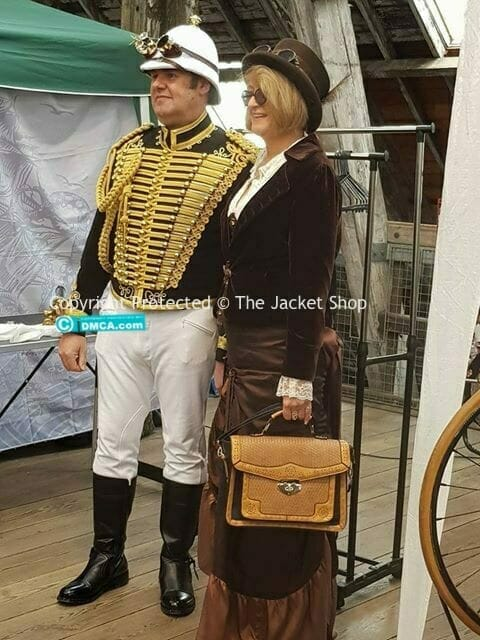 Dave Jenkins at a steampunk festival looking superb