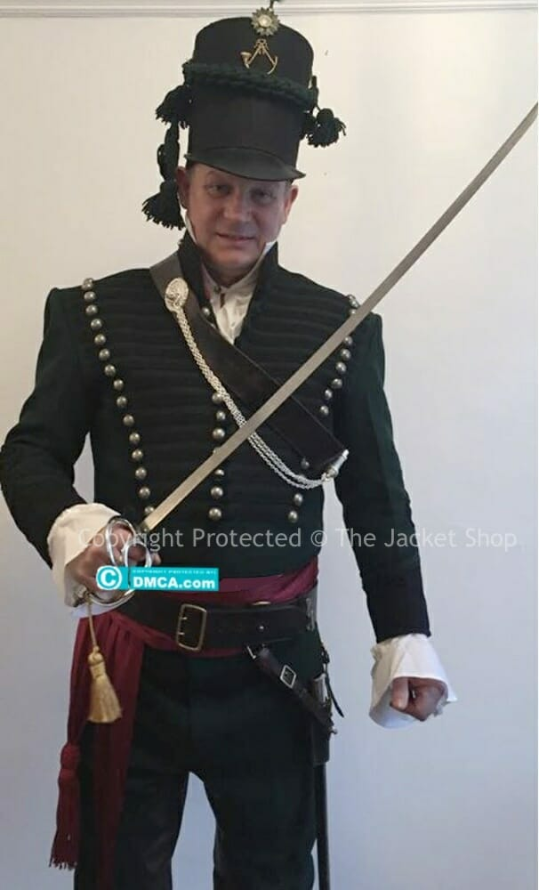 Anthony wearing our Sharpe's 95th Rifle Uniform