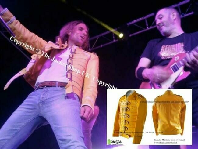 Freddie Mercury Queen Yellow Leather Jacket