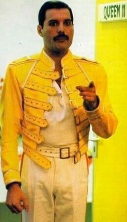 Freddie Mercury with the original yellow jacket