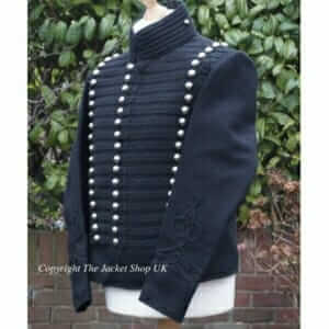Black-Custom-Made-Leicester-Yeomanry-Lieutenant's-Dolman-Jacket