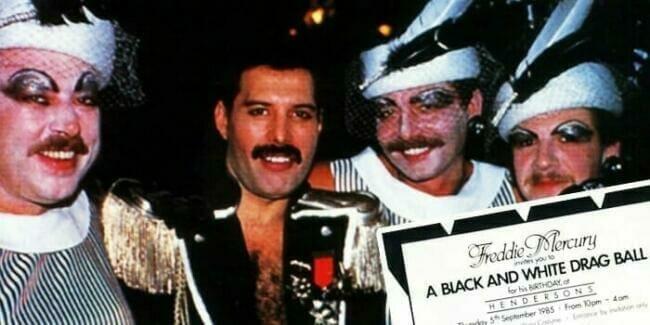 Freddie Mercury Black & White Ball