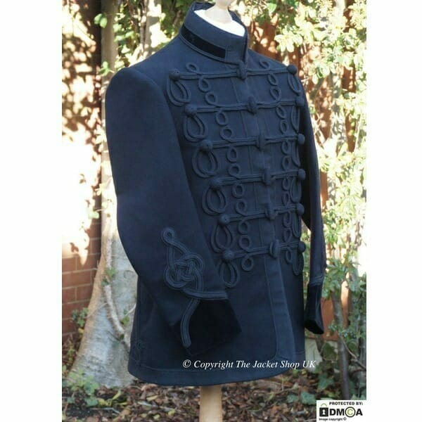 Victorian-Military-Dress-Tunic,-Smoking-Jacket