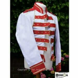 Freddie Mercury Magic Tour Jacket - 1986 Red & White Jacket in Canvas