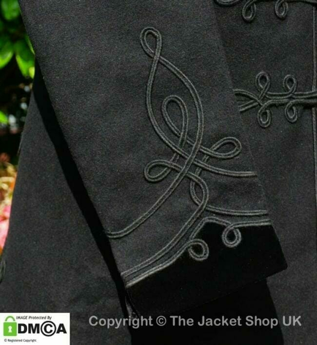velvet cuffs details Victorian Smoking Jacket
