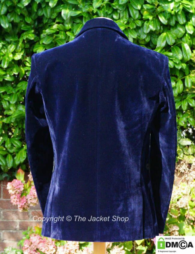 Velvet Dinner Jacket back view