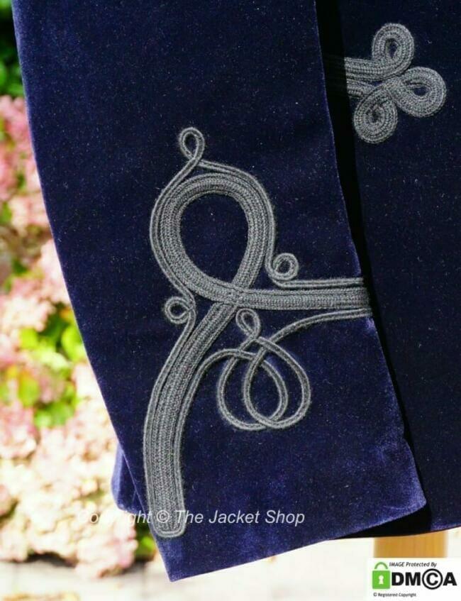 Cuff Detail on Victorian Smoking Jacket