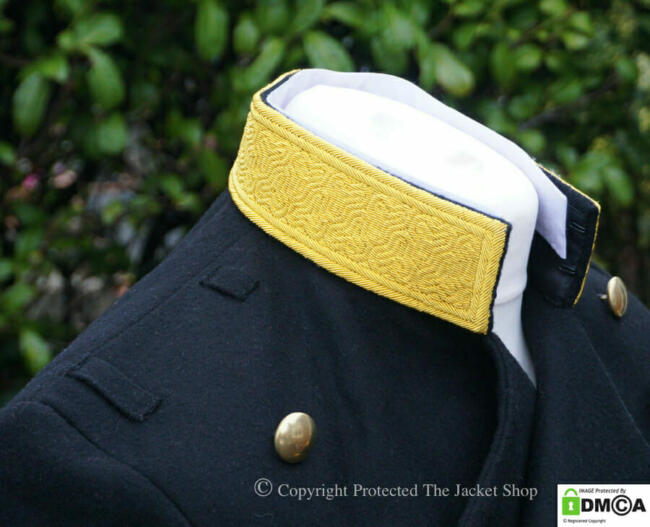 Bespoke Embroidery Collar Detail