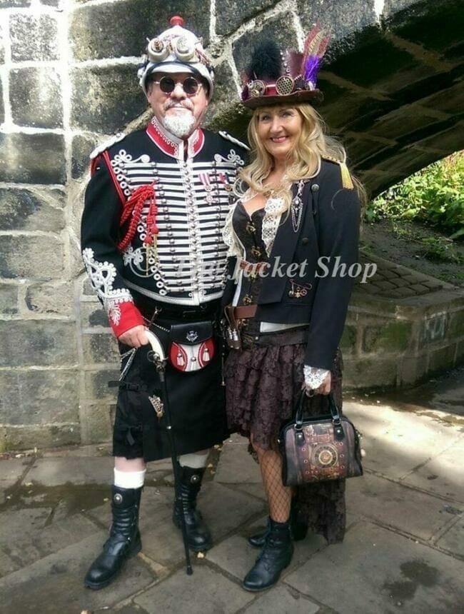 steampunk fair clothing.