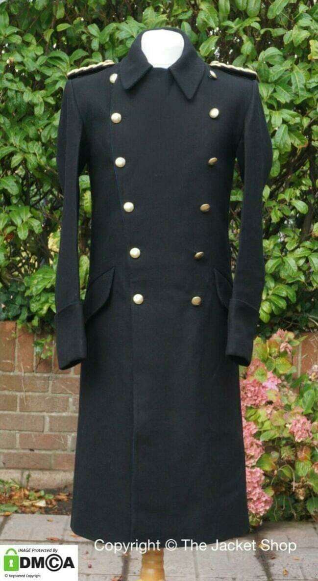 WW2 German Repro Kriegsmarine Navy Admiral Wool Overcoat Dress Jacket Tunic