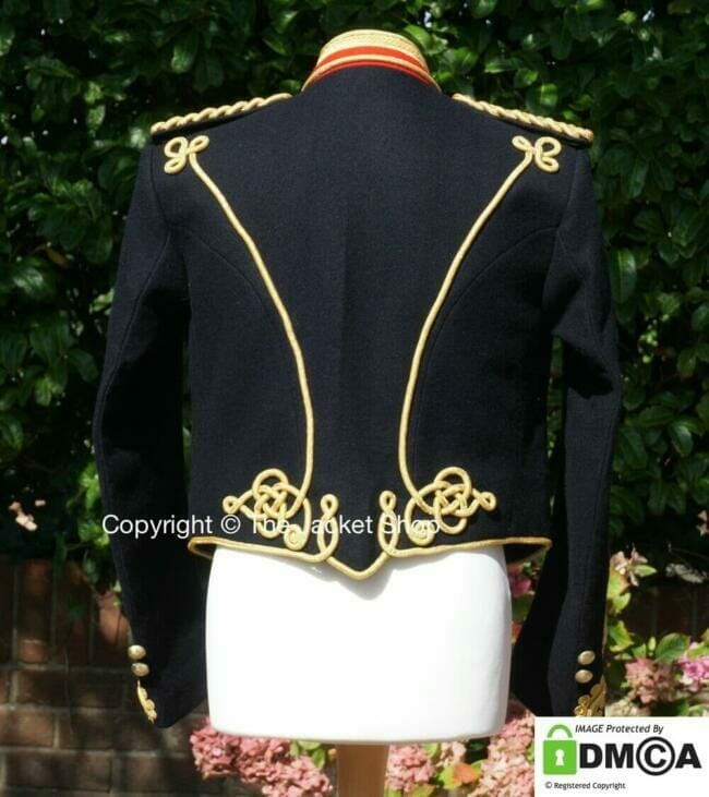 Victorian Royal Artillery Jacket Captains Officers Tunic rear view.