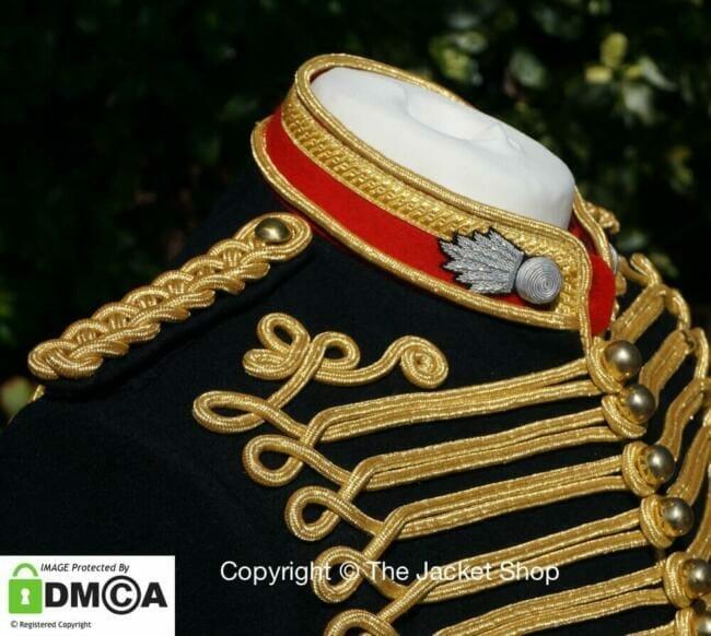 Military Jacket rank collar detail kings troop regiment royal artillery