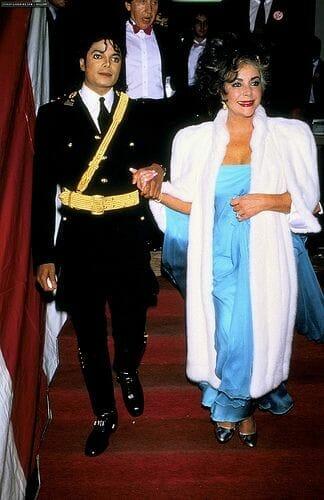 Michael Jackson Elizabeth Taylor 1986 American Music Awards