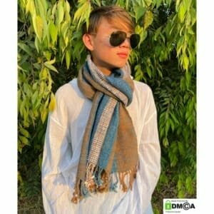 Urban Boho Hippie Shawl Rustic Handwoven Cotton scarf.
