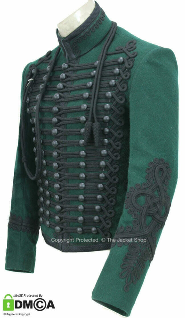 Green Napoleonic Rifleman officers jacket